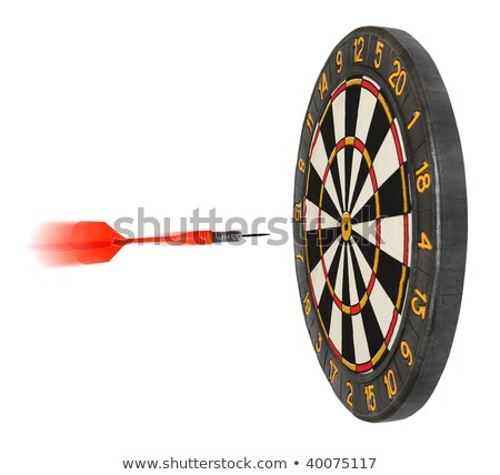 dartboard with dart flying in aim stock photo © mikko