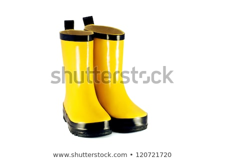 little girl wearing rubber boots in garden Stock photo © phbcz