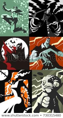 Monster Films zombie hand bioscoop Stockfoto © Lightsource