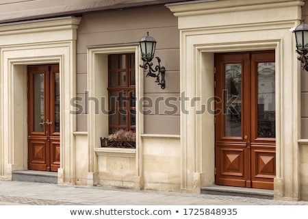 Wooden Door With Window stock photo © rhamm