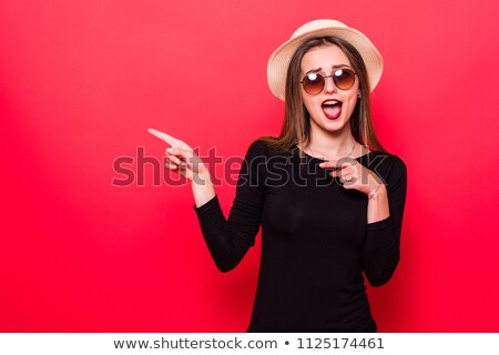 very happy young brunette beauty stock photo © lithian