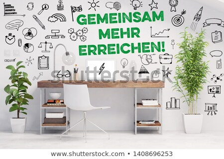 Reaching success together (In german) Stock photo © kbuntu
