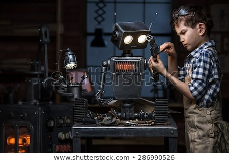 robot with screwdriver stock photo © kirill_m