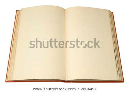 an old hardback book with pages ready for text stock photo © latent