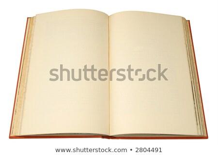 abierto · antigua · libro · aislado · blanco - foto stock © latent