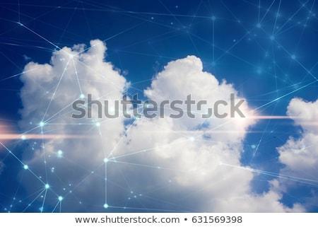 amabilidad · brillante · cielo · azul · nube · palabra · sol - foto stock © badmanproduction