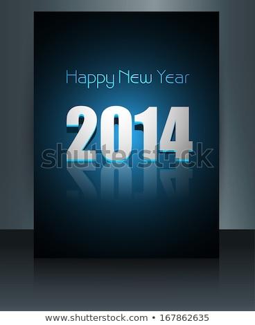 Fantastik yılbaşı 2014 renkli şablon broşür Stok fotoğraf © bharat