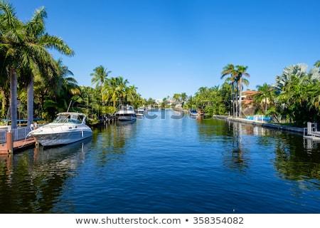 Evler kanal güney Miami güneş mavi Stok fotoğraf © meinzahn