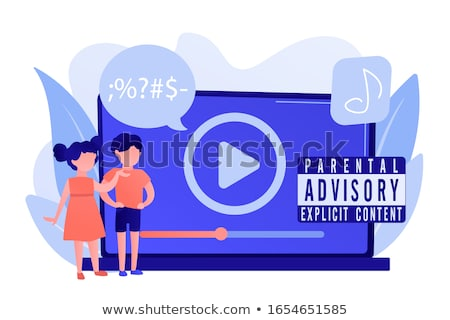 Parental advisory label Stock photo © stevanovicigor