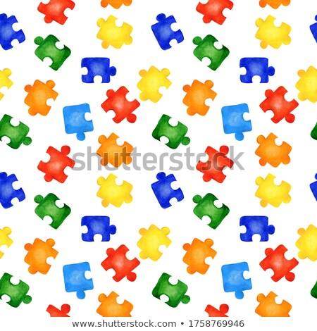 Autizmus nyomtatott papír akasztás kötél kép Stock fotó © stevanovicigor