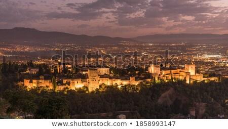 Alhambra Arch Granada Cityscape Andalusia Spain Stock photo © billperry
