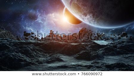 Astronave distante mundo ordenador generado 3d Foto stock © MIRO3D