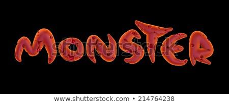 3d pink orange monster word on black  Stock photo © Melvin07