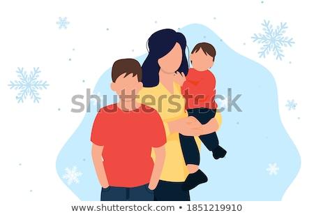 mikulás · lány · vásárlás · karácsony · ajándékok · tart - stock fotó © carodi