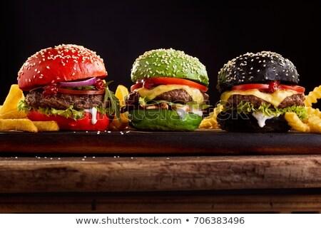 Drie brood rij doek dieet gezonde Stockfoto © raphotos