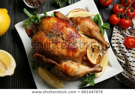 Whole Chicken golden roast  Stock photo © marimorena