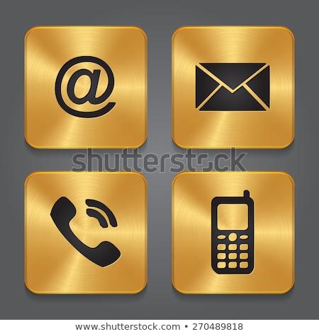 Küld arany vektor ikon gomb terv Stock fotó © rizwanali3d