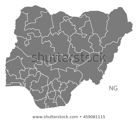 silhouette map of Nigeria Stock photo © mayboro