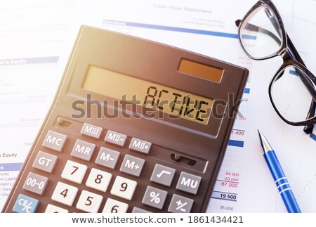 Calculator with the word energy on the display Stock photo © Zerbor