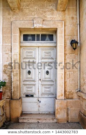 Stok fotoğraf: Old Door In Stone Wall