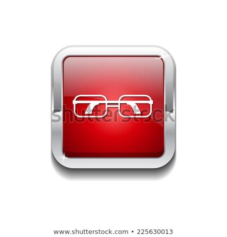 Espetáculo vermelho vetor ícone botão internet Foto stock © rizwanali3d