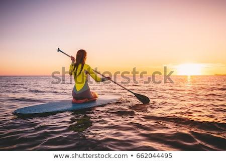 Sörf sörfçü kız sörf sörf kadın Stok fotoğraf © Maridav