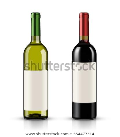 wijn · flessen · geïsoleerd · witte · glas - stockfoto © merlot