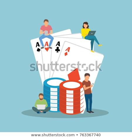 Stock photo: Man Play Lottery