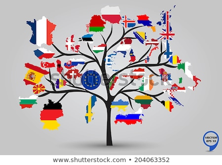 United Kingdom Map With Wooden Flag Stock photo © olgaaltunina