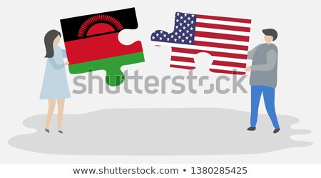 USA and Malawi Flags in puzzle Stock photo © Istanbul2009