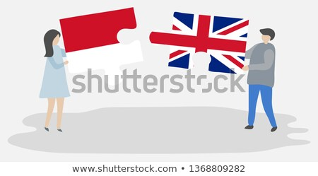 Indonesia and United Kingdom Flags in puzzle  Stock photo © Istanbul2009