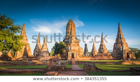 Histórico pagode budista templo cidade edifício Foto stock © tang90246