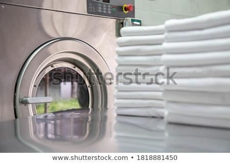 lavanderia · servizio · illustrazione · ragazza · silhouette · vestiti - foto d'archivio © adrenalina
