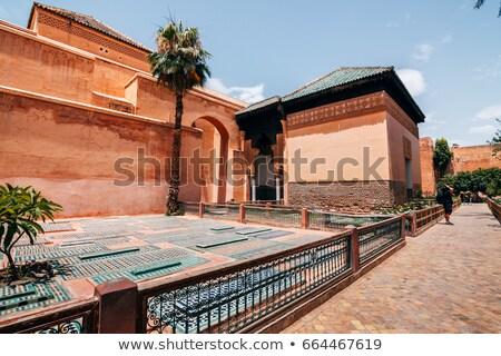 Miasta Maroko punkt orientacyjny architektury budynku drzwi Zdjęcia stock © tony4urban
