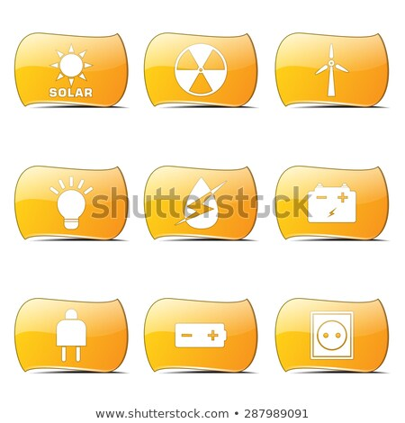energy sign and symbol yellow vector buttonicon stock photo © rizwanali3d
