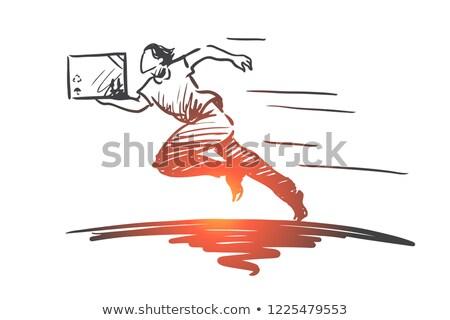 Fast delivery shopping sketch icon Stock photo © RAStudio