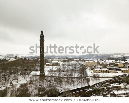 Kule batı yorkshire gün batımı dizayn ev Stok fotoğraf © chris2766