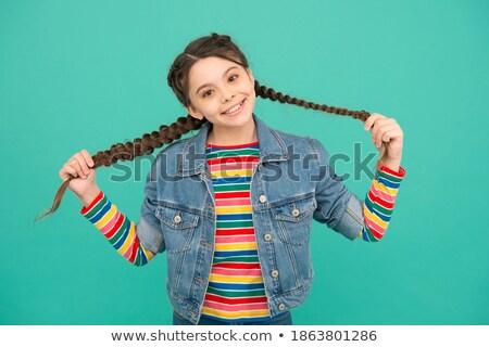 Salon de coiffure regarder nouvelle cheveux produit stock Photo stock © wavebreak_media