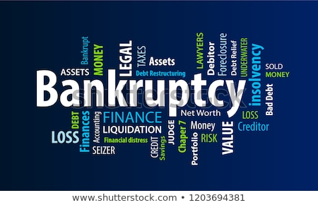 Bankruptcy word Stock photo © fuzzbones0