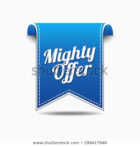 Machtig bieden Blauw vector icon ontwerp Stockfoto © rizwanali3d