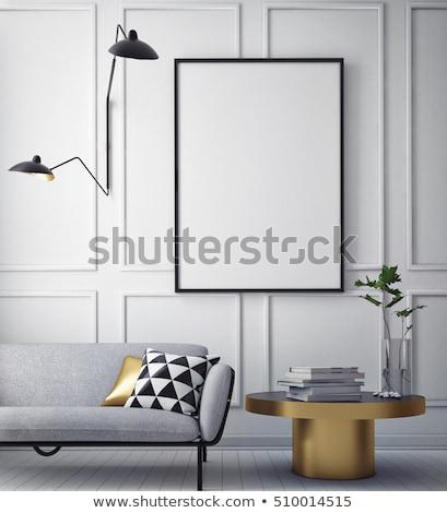 up · affiche · vintage · grenier · intérieur - photo stock © teerawit