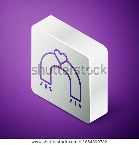 Magnete viola vettore icona pulsante web Foto d'archivio © rizwanali3d
