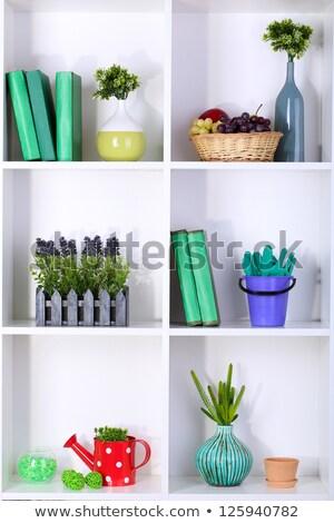 Belo branco prateleiras diferente casa objetos foto stock tatyana korenyigina - Beautiful photoshelves ...
