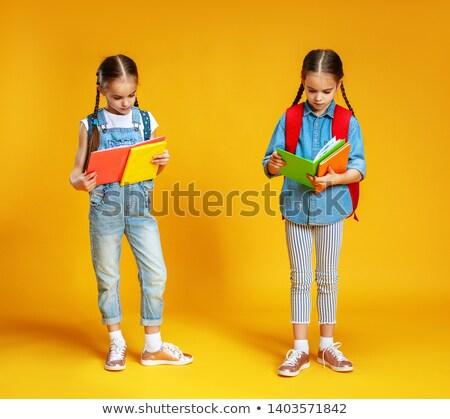Tweeling meisje liefde mode ontwerp schoonheid Stockfoto © Paha_L