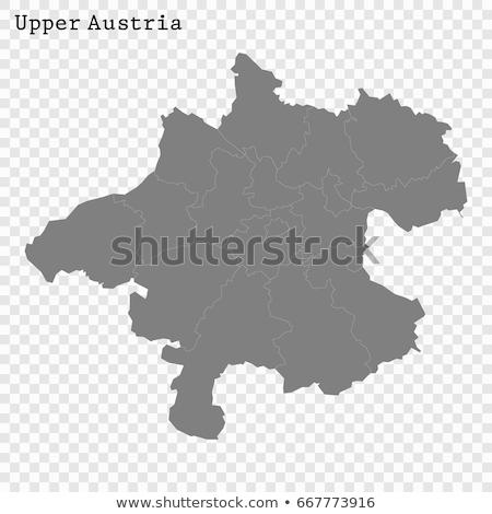 térkép · Ausztria · vektor · izolált · szürke · szürke - stock fotó © rbiedermann