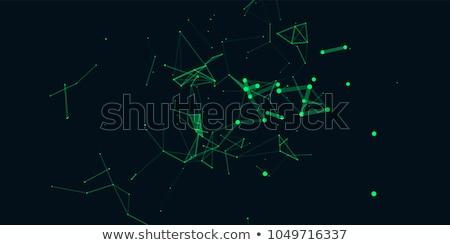 Abstrakten Raum niedrig dunkel Zeilen Stock foto © teerawit