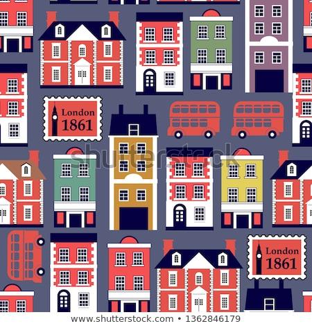 Engels · straat · huizen · rij · steen - stockfoto © Hofmeester