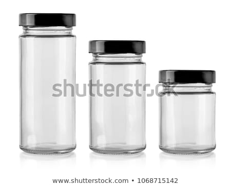 Isolated glass jar on a white background Stock photo © Zerbor
