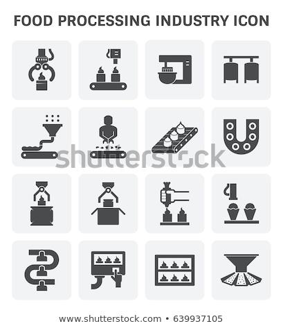 Produção bolinhos dentro fábrica automático fundo Foto stock © mady70