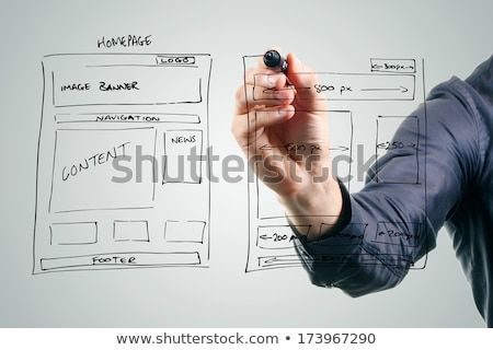 Competency Hand Black Marker Stock photo © ivelin